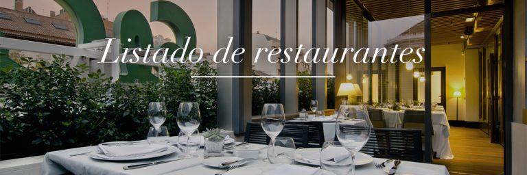 Listado restaurantes. Google Maps